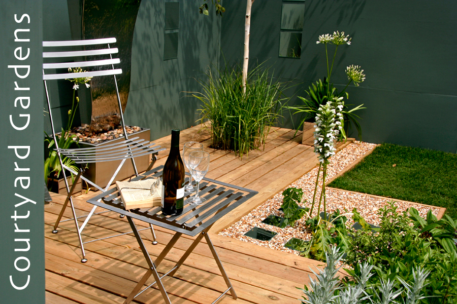 Garden designers london earthcare for Domestic garden ideas