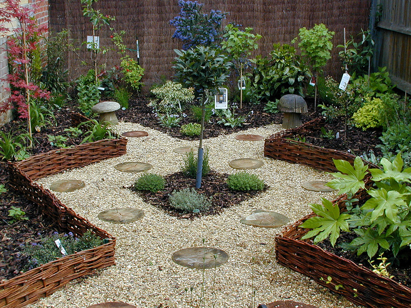 Small london gardens for Hard landscaping ideas