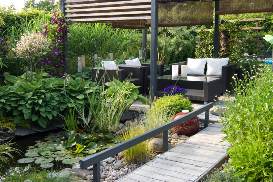Contemporary gardens london for Contemporary garden designs and ideas