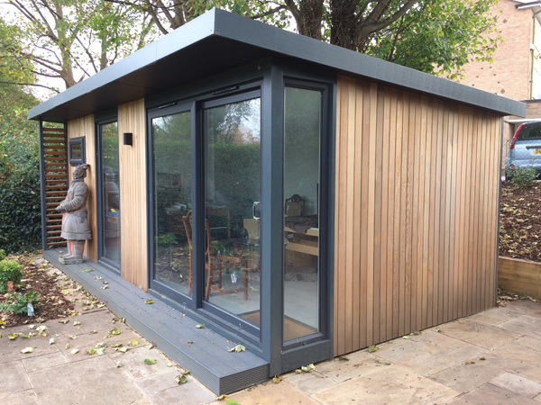 modern garden office for contemporary garden rooms london